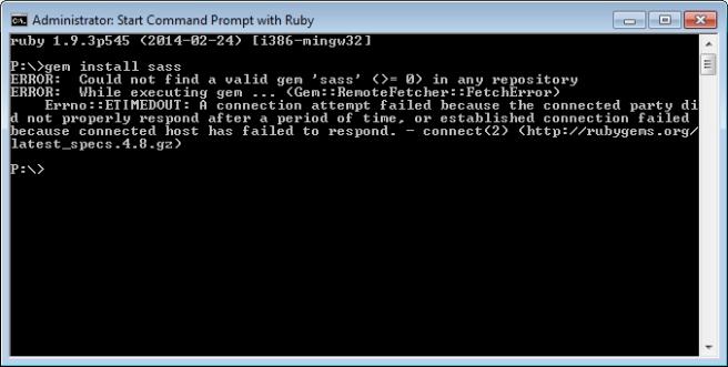 Command prompt error