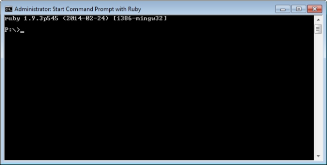 Ruby Start Command Prompt